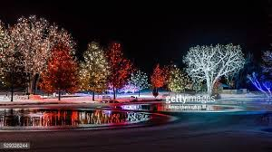 hudson gardens christmas lights christmas lights show stock photos and pictures getty images