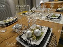 Image Of Christmas Dining Table Placemats Placesettings Baubles - Dining room table placemats