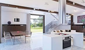 exquisite small modern open kitchen with white color rectangle