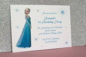 personalised birthday party invitations thank you cards elsa