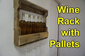 pallet wine rack easy simple diy project youtube