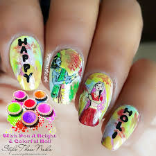 style those nails holi 2017 nail collab u0026 radha krishna nailart