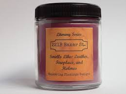221b baker st 4 oz candle literary series candle u2013 wandering