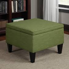 Green Ottoman Clay Alder Home Pope Apple Green Linen Table Storage