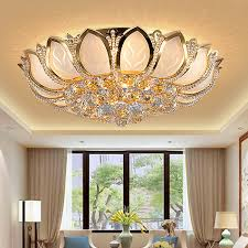 gold ceiling light fixtures led lotus flower gold crystal ceiling lights fixture foyer dining