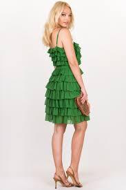 silk dresses green ruffle silk dress size 8 us fit s dresses