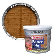 ronseal one coat harvest gold matt shed u0026 fence stain 5l