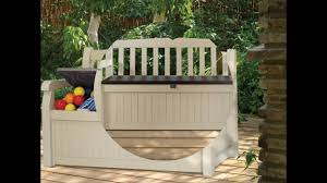 Keter Bench Storage Bench Keter Garden Bench Brushwood Plastic Wood Effect Garden