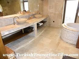 Travertine Bathroom Floor Aweinspiring Travertine Bathroom Floor Tiles Wonderful Tile For