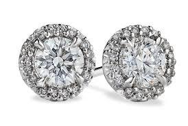 large stud earrings large halo diamond stud earrings in platinum ritani