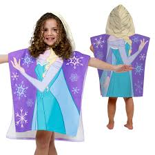 disney frozen kids u0027 hooded towel poncho elsa