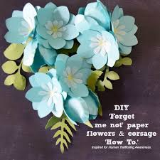 Paper Flowers Video - forget me not paper flower templates printable u0026 svg cut file