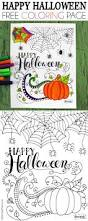 happy halloween coloring pinning mama