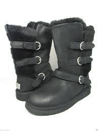 boots australia ugg australia womens becket black leather boot 1005380 8 ebay