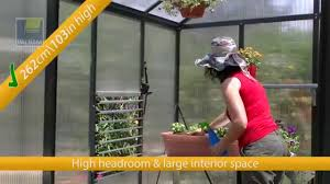 Palram Polycarbonate Greenhouse Palram Glory Greenhouse Kit Youtube