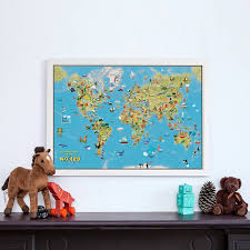 World Map Cartoon by Kids Cartoon Map Of The World By Maps International