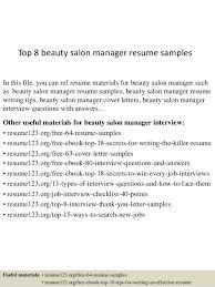 top 8 beauty salon manager resume samples 1 638 jpg cb u003d1431570656