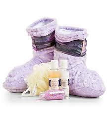 lavender gift basket spa booties with lavender aromatherapy spa gift baskets