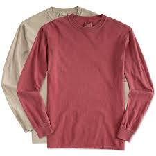 custom comfort colors 100 cotton long sleeve shirt design long