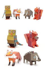forest animals paper toys diy paper craft kit 3d paper