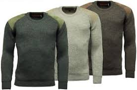 shooting sweater mens heavy knit 100 wool pullover jumper shooting