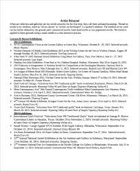Resume Sample Word File by Artist Resume Template 7 Free Word Pdf Document Downloads