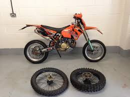 ktm exc 450 2005 supermoto with off road wheels in brandon