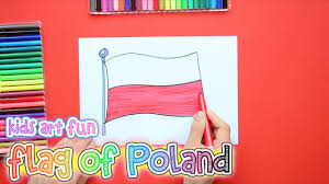 how to draw and color the flag of poland youtube
