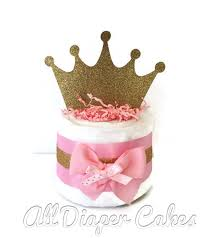 mini princess pink and gold diaper cakes princess theme baby