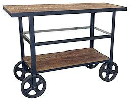 crosley furniture kitchen cart crosley furniture roots rack industrial kitchen cart in pine blue