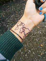World Map Tattoo Map Tattoos Tattoo Designs Tattoo Pictures Page 3