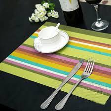 4pcs lot heat resistant pvc kitchen dinning stripe table placemats