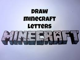 how to draw minecraft letters youtube
