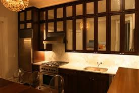 mirrored cabinet doors kitchen contemporary with cabinets cooktop