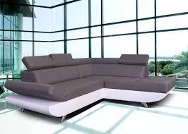 canapé gris et blanc pas cher canapé d angle simili cuir blanc pas cher