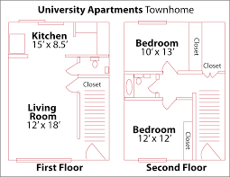1000 Sq Ft Apartment by Floor Plans University Apartments At Ncsu