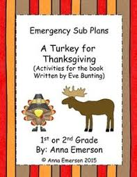a turkey for thanksgiving by bunting novel study bunting