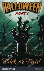 halloween party poster zombie s hand stock vector 709468159