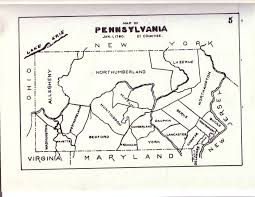Map Pennsylvania by Civil War Blog Historical County Maps Of Pennsylvania