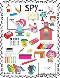 km classroom free printable i spy supplies