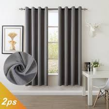 84 Inch Curtains Dollct Grey Curtains 52 By 84 Inch Set Of 2
