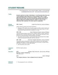 Resume Examples Student Basic Resume by Basic Resume Examples For Students Basic Resume Templates