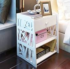 Nightstand Size Amazon Com Mybestfurn Small Size Engraving White Nightstand Bed
