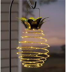 Pineapple Light Fixture Outdoor Hanging Solar Lantern Pineapple Solar Solutions