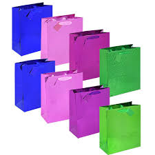 purple gift bags bulk voila large foil and holographic gift bags at dollartree