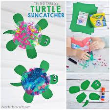 melted crayon turtle suncatcher craft for kids i heart arts n crafts