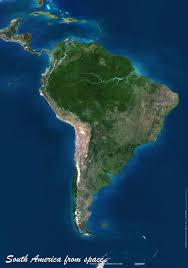 satellite map hd south america map or map of south america