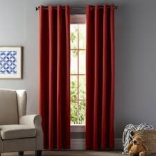 Chocolate Brown And Red Curtains Red Curtains U0026 Drapes You U0027ll Love Wayfair