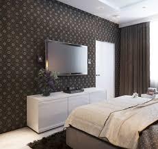 wandtapete schlafzimmer schlafzimmer wand dekorieren tapete blumenmuster braun weißes