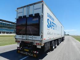 concept semi truck samsung u0027s safety truck concept starts testing in argentina